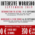 workshop per gli studenti del florence movie academy