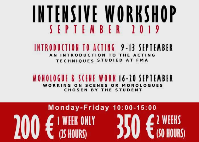 Intensive Workshop Settembre 2019